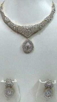 American Diamond Full Necklace Set