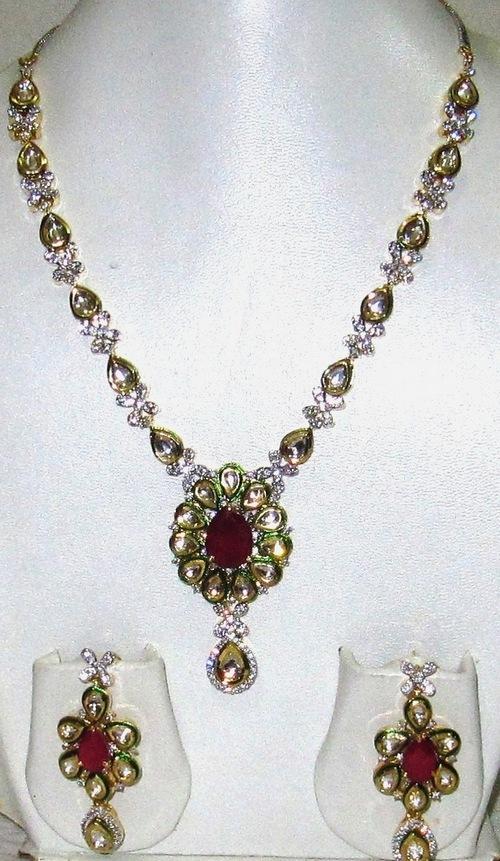 Designer Cubic Zirconia Necklace Set