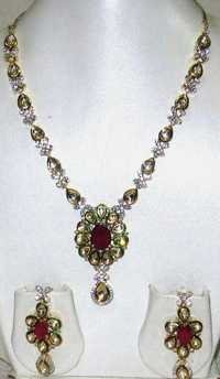 Designer Cubic Zirconia Necklace Set
