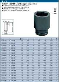 Gedore impact socket Hexagon 1.1/2