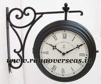 Double Sided Hanging Clock