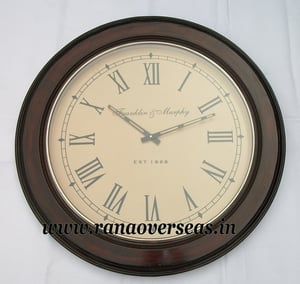 Wall Hanging Wooden Clock in 24 Inches