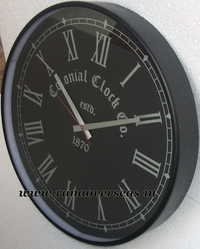 Wall Hanging Metal Clock in 18 Inches