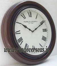 Wall Hanging Wooden Clock in 15 Inches