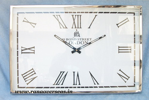 Wall hanging Steel Clock in 24 x 12 Inches.