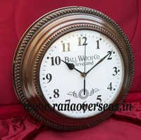 Wall hanging Metal Clock in 12 Inches
