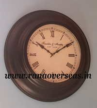 Antique Look Wall hanging Metal Clock in 16 Inches