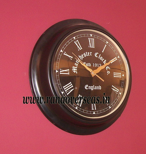 Antique Look Wall hanging Iron Metal Clock in 16 Inches