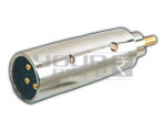 XLR 3 Pin Mic male to RCA male Adapter