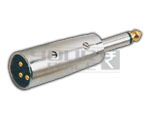 XLR 3 Pin Mic Male to TS mono Male