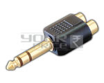 TRS P-38 Stereo Male to 2 RCA Female Adapter