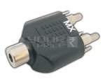 2 RCA Male to EP Female Adapter