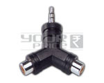 EP Stereo 3.5mm to 2 RCA Female Adapter