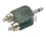 EP Male Mono 3.5mm to 2 RCA Male Adapter