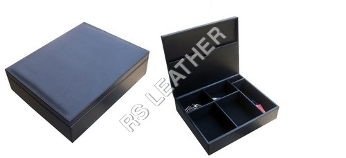 Leatherette Black Stationery Box