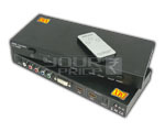 Multi Function Home Theater Switcher with Remote HDMI + DVI + YPbPr to HDMI Convertor