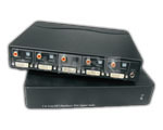 1 IN 4 OUT DVI Distribution Splitter with Digital Audio