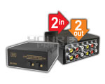 2 Way Audio-Video Selector Professional (2 IN 2 OUT)