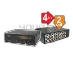 4 Way Audio Video Selector Professional (4 IN 4 OUT)