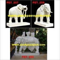 White Marble Stone Elephant