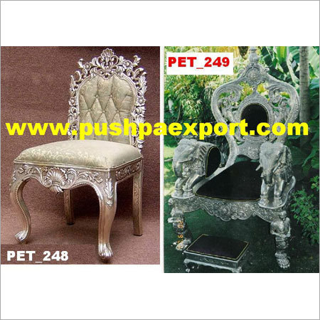 Silver Carved Chair and Throne