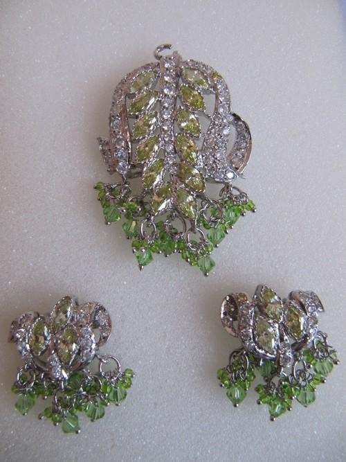 American Diamond Fancy Pendant Set