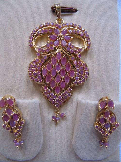 Real Sapphire Pendant Set