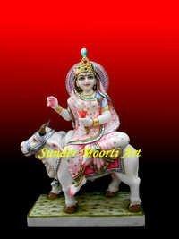 Marble Shailputri Statue