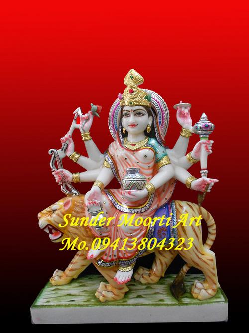 Marble Navdurga Statue