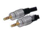 EP Stereo Plug 3.5 mm TO EP Stereo 3.5 mm Cord Gold Plated