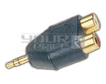 EP Stereo Male to 2 RCA Female Adapter