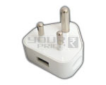 USB Power Adapter Charger 3 Pin Indian Standard