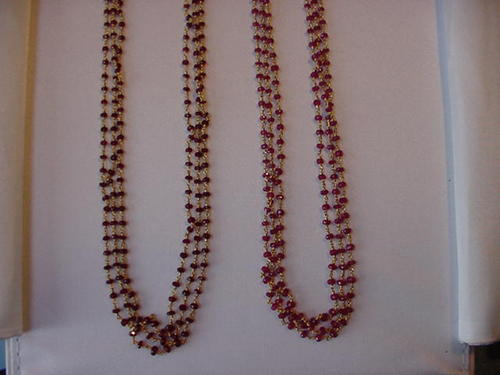 Natural Ruby Beaded Chain
