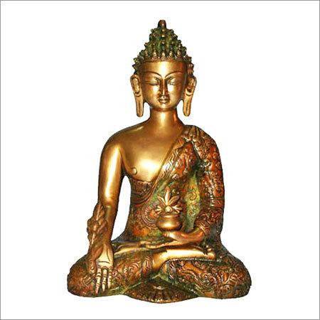 Brass Buddha Sitting Preaching