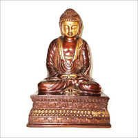 Crafted Metal Buddha Sitting