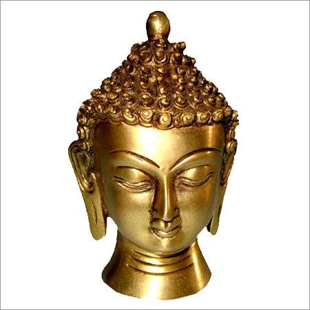 Carved Buddha Head Statues
