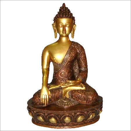 Sitting Antique Brass Buddha Statue
