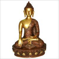 Sitting Antique Brass Buddha Statue
