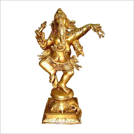 Brass Dancing Ganesh Statue