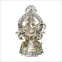 Gods Ganesh in white throne