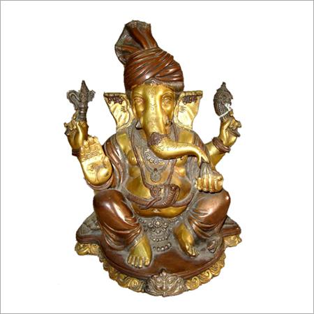 Sri Ganesh God Metal Base.