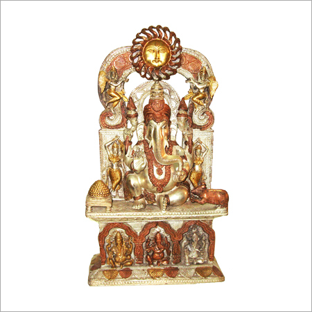 Deity Ganesha Surya Throne