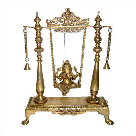 Brass Child Ganesha in Swing