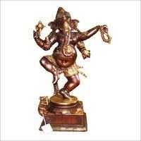Dancing Bronze Ganesha Statue
