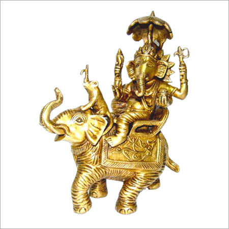 Hindu God Ganesha Brass Statues