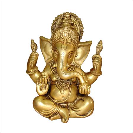 Carved Ganesha Sculpture