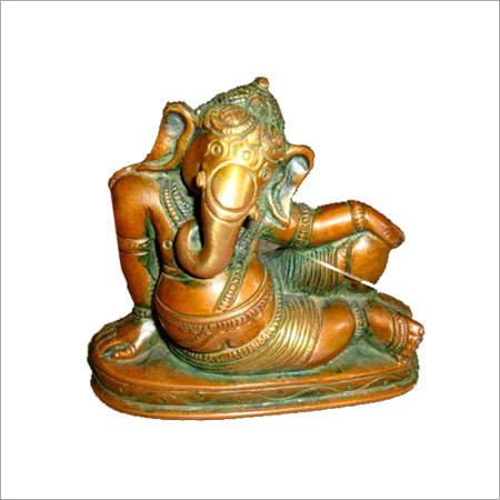 Sitting Brass God Statues