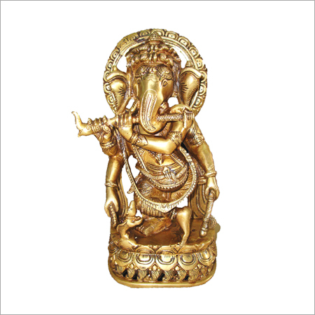 Carved Ganesha Sculpture