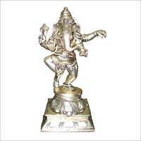Silver Ganesh Dancing Statues