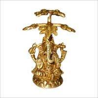 Copper Bodhitree Ganesh Statue